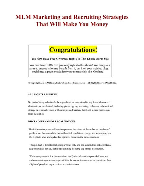 Rivals Fast Giveaway Com - mlm marketing and recruiting strategies that will make you money