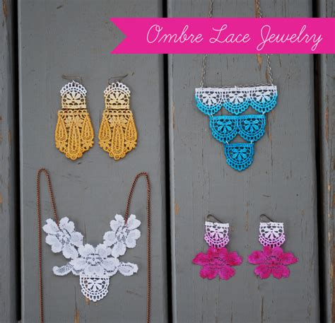 d i y projects craft ideas diy ombre lace jewelry grace
