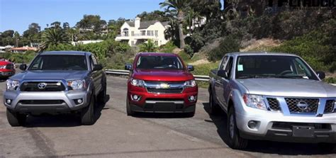 Chevy Vs Toyota Tfl Compares Chevrolet Colorado Against Nissan Toyota