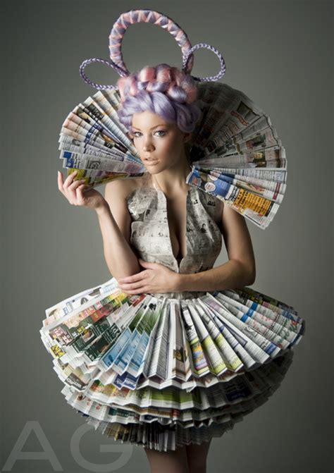 Clothes Out Of Paper - how to recycle recycled newspaper dresses