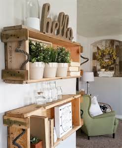 Wood Home Decor Ideas Cottage Farmhouse Features From Foxhollowfridayfavs