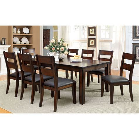 furniture of america gibson bold 9 dining table set