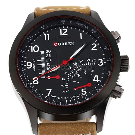 curren army sport mens watches leather