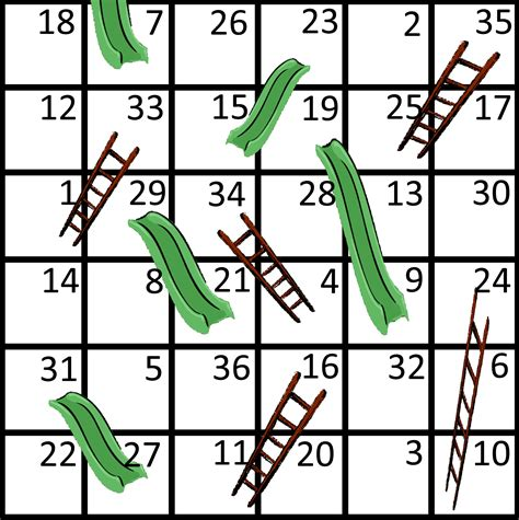 Chutes And Ladders Template Printable