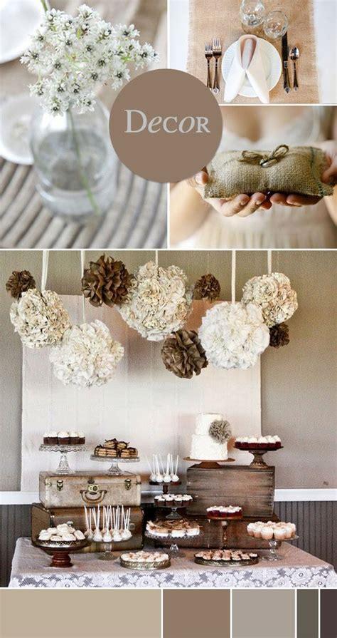 natural home decor ideas d 233 co mariage 2015 chocolat caf 233 beige pour une