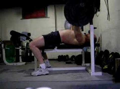 250 Lb Bench Press by Bench Press 10 Rep Stict Form Side View 250 Lbs