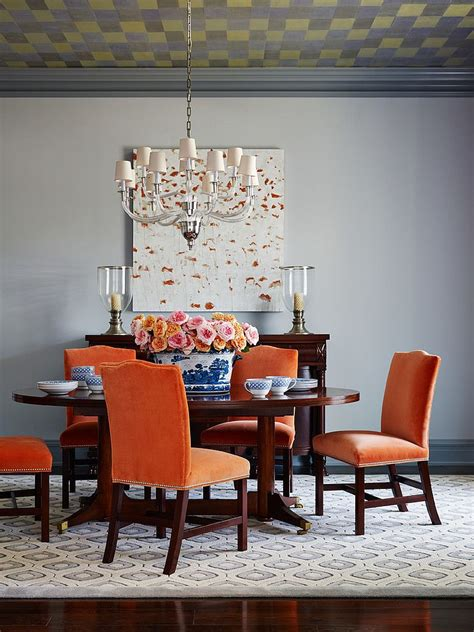 orange dining room 25 trendy dining rooms with spunky orange