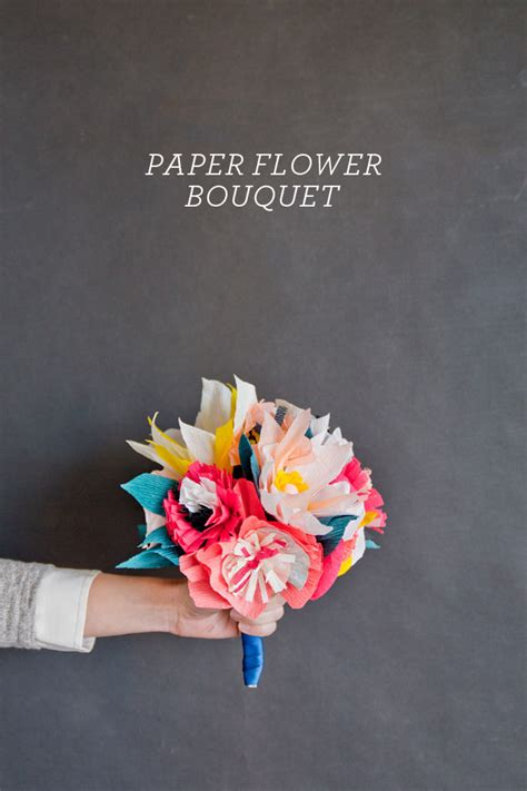 How To Make Flower Bouquet With Paper - paper flower bouquet diy