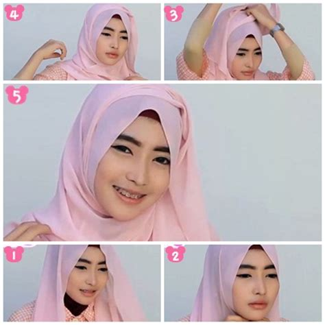 tutorial hijab simple pashmina sifon tutorial hijab pashmina sifon simple