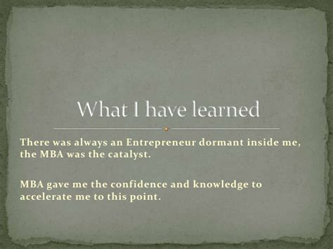 What I Learned From My Mba by Cahill Mba Entrepreneurs Born Or Made