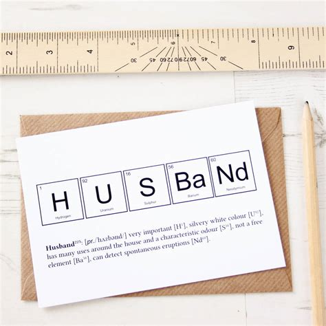 husband cards or husband valentines card by newton and the