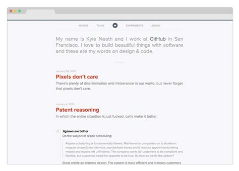jekyll layout for blog 5 exles of great minimal jekyll blog designs 183 qrohlf com
