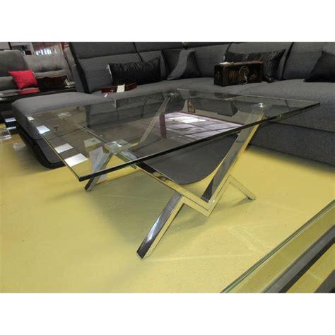 table basse verre et acier promodiscountmeubles magasin