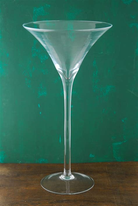20 quot glass martini glass vase
