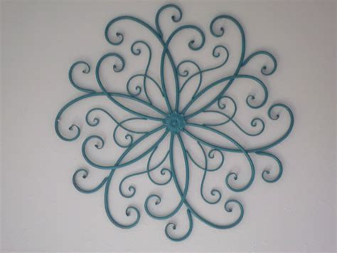 Metal Scroll Wall Decor by Shabby Chic Teal Metal Scroll Wall Decor Iron By
