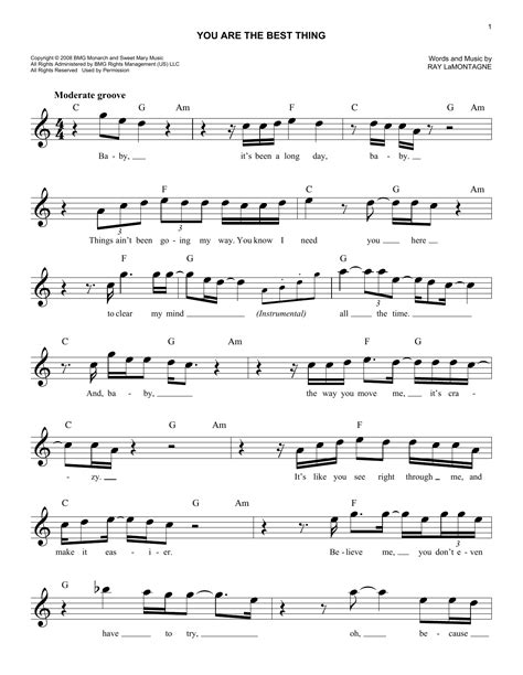 the best of you chords you are the best thing chords by lamontagne melody