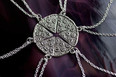 Sale Gold Necklace Top Mn 8217 sale pizza friendship necklace best friends jewelry