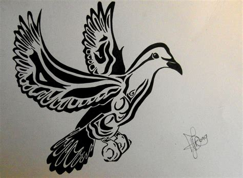 tribal dove tattoo tribal dove designs