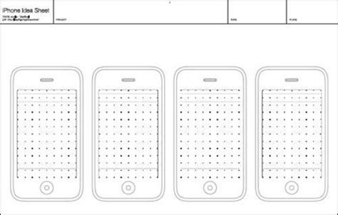 20 Free Printable Sketching And Wireframing Templates Iphone App Wireframe Template