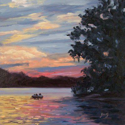 hudson boat rides hudson valley painter sunset boat ride on the lake in oils