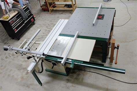 sliding table saw with awesome router table setup