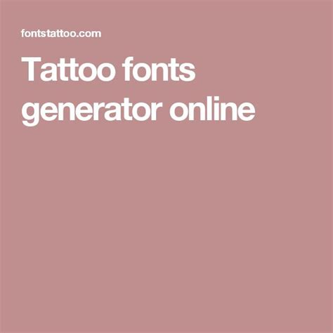 tattoo font generator 1000 ideas about fonts generator on