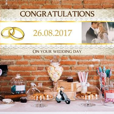 personalised wedding banner uk personalised wedding partyrama