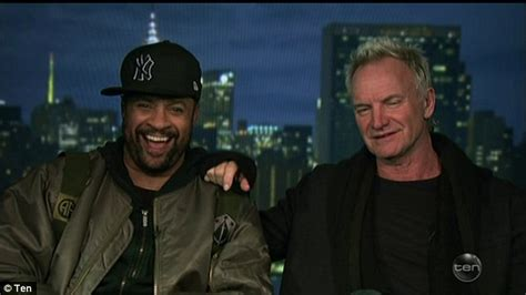 Sting Keeps The Going by Sting Jokes He Is Dating Shaggy On The Project Daily