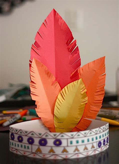 Indian Paper Crafts - american crafts for hative