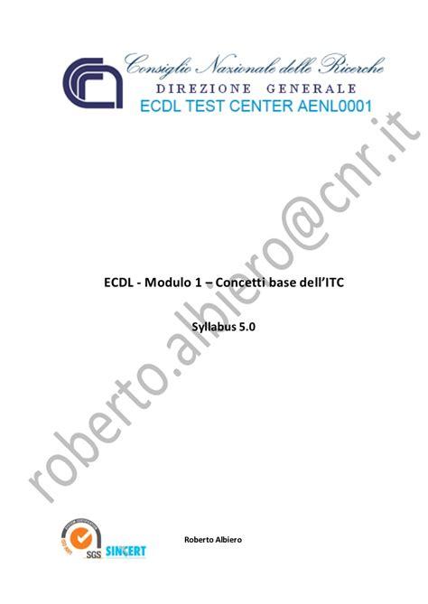 ecdl test modulo 1 modulo 1 concetti di base dell ict