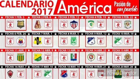 Calendario De Partidos Calendario Am 233 Rica De Cali Pr 243 Ximos Partidos Liga 225 Guila