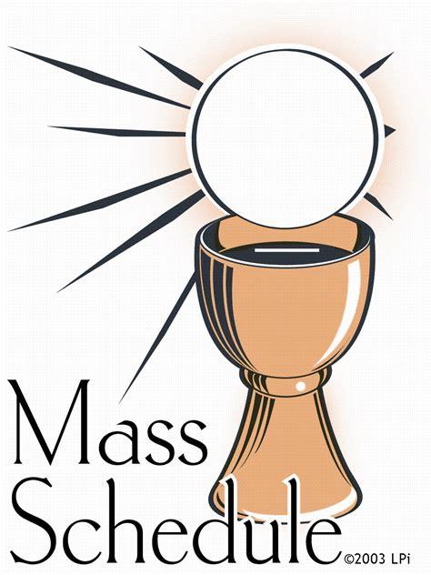 catholic clipart mass schedule st bernard catholic church