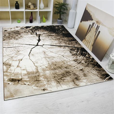 teppich rund braun beige modern lounge rug brown beige with tree stump design rugs