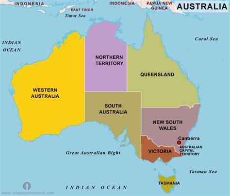 australia map images free geography political maps australia