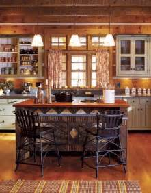 cabin kitchen with painted cabinets cabin