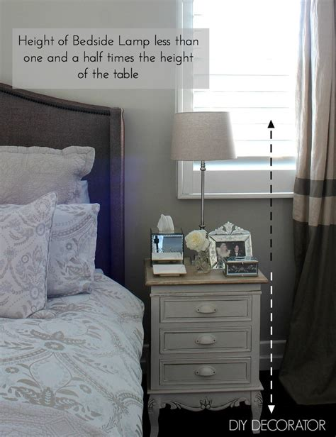 bedside table height measure the height and the top of the bedside table the l will sit on the l should be no