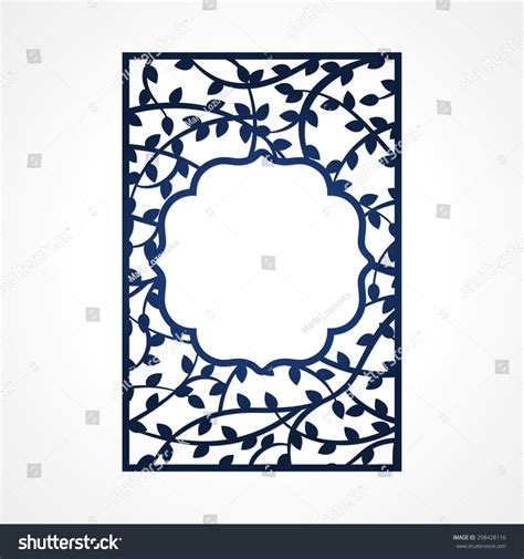 Abstract Vector Frame Tree Branches May Stock Vector 298428116 Shutterstock Laser Cut Photo Frame Template