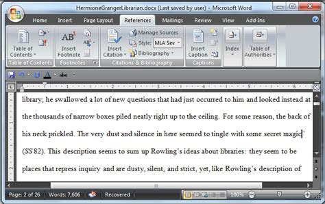 Inserting Citations In An Essay by Using Microsoft Word To Create References And Bibliographies0 Library