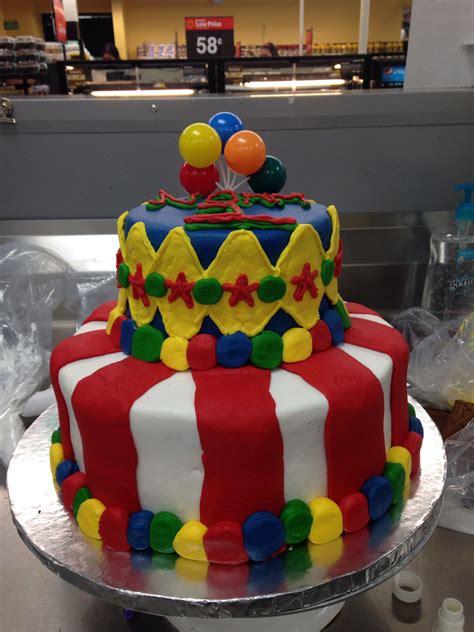 custom tier cake carnival cake walmart cake lizzys cake   carnival cakes cake