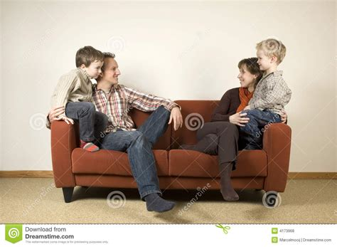 couch family wealth family on a couch 1 royalty free stock photos image 4173968