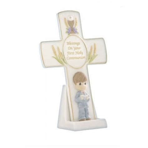 holy communion gifts for boys precious moments communion gifts blessing on your holy communion boy cross with stand