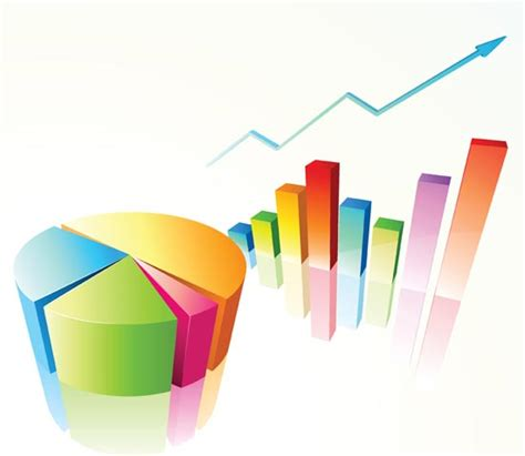 charts and graphs chart and graph with arrow