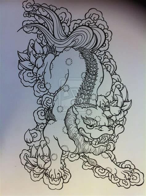 japanese lion tattoo designs japanese design by nirvanaoftime