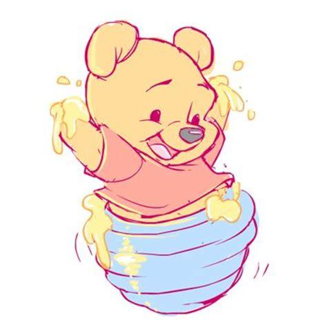 imagenes de winnie pooh bebe con movimiento winnie the pooh bebe con miel dibujos kawaii pinterest