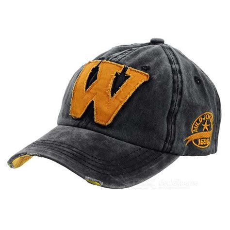 fashionable unisex w baseball cap vintage hat black