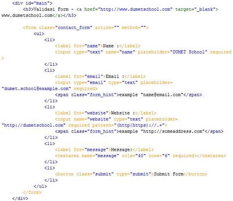membuat form html dengan css membuat validasi form menggunakan html dan css