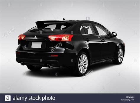 mitsubishi sportback 2010 mitsubishi lancer sportback ralliart in black rear