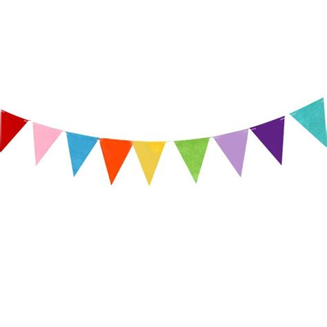 Bunting Flag Hbd 2017 wholesale 3m happy birthday colorful pennant flags