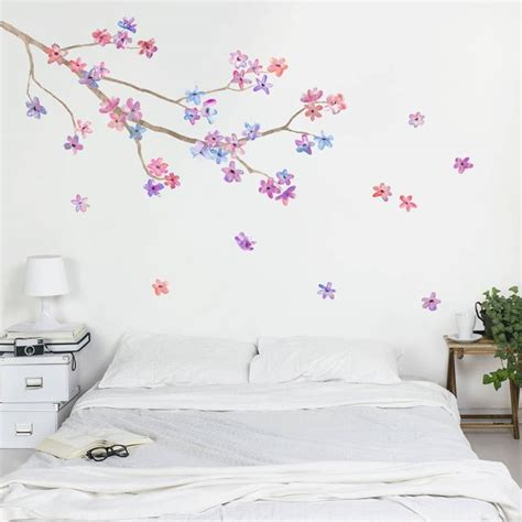 Cherry Blossom Tree Wall Sticker decorazioni per la casa come abbellire gli spazi interni