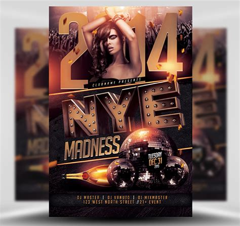 Nye Madness Flyer Template Flyerheroes Madness Flyer Template